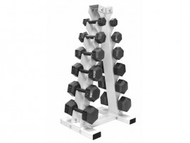5-30lb Dumbbell Set with Vertical Rack