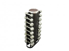 3-25lb Dumbbell Set with Vertical Rack