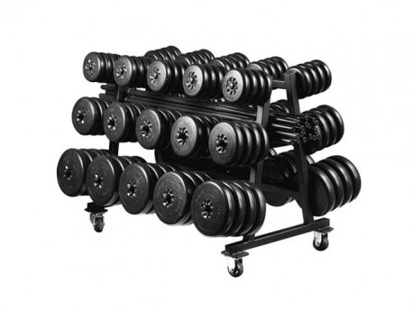York Mobile Cardio/Aerobic Barbell Set Rack