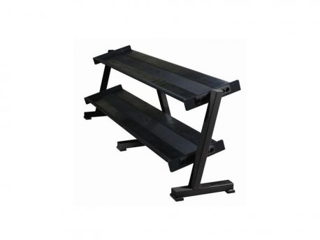 York 2-Tier Flat Tray Dumbbell Rack