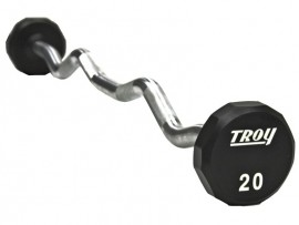 Troy Urethane Fixed Weight Curl Barbell