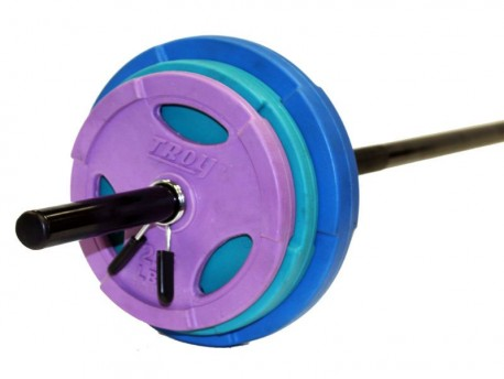 Troy Cardio Barbell 40lb Colored Weight Set