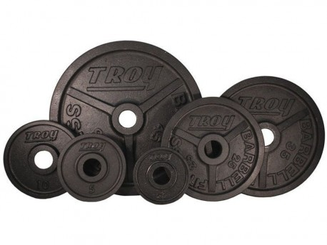 Troy 255 lb Olympic Premium Black Weight Set