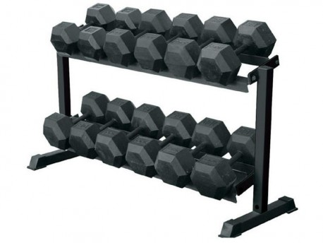 York 2-Tier 5-50lb Dumbbell Rack