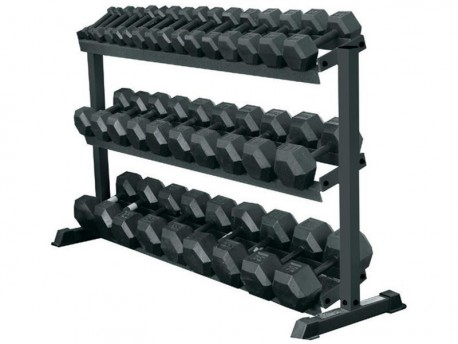 York 3-Tier Space-Saving 5-70lb Dumbbell Rack