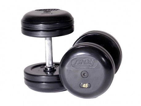 Troy Pro-Style Rubber Dumbbells