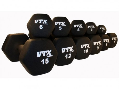 Troy VTX Neoprene Dumbbell Black
