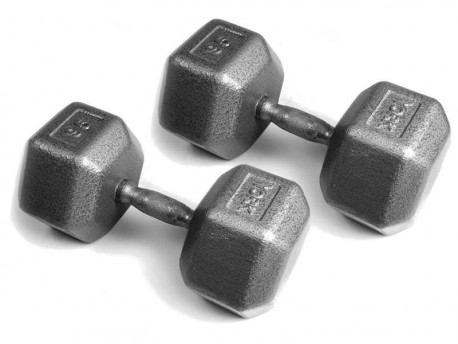 York Pro Contoured Hex Dumbbell