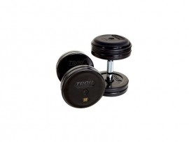 Troy Fixed Pro-Style Rubber Contoured Dumbbells