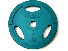 Troy Standard Rubber Coated Colored Weight Plate
