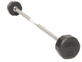 Troy Rubber Fixed Weight Barbell