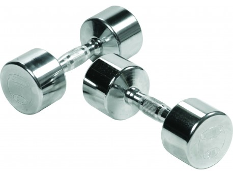 York Ergonomic Chrome Steel Dumbbell