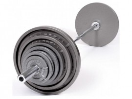210 lb Olympic Weight Set w/ 7 ft Bar