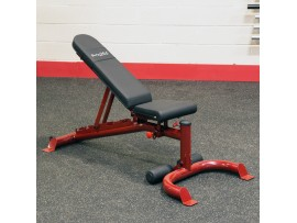 Body Solid Red Flat/Incline/Decline Bench