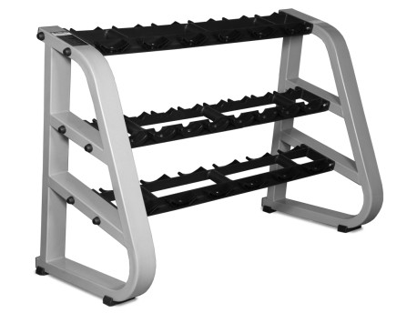 Intek 10-Pair 3-Tier Dumbbell Rack with Saddles