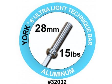 York Aluminum Technique Bar 15lb 28mm