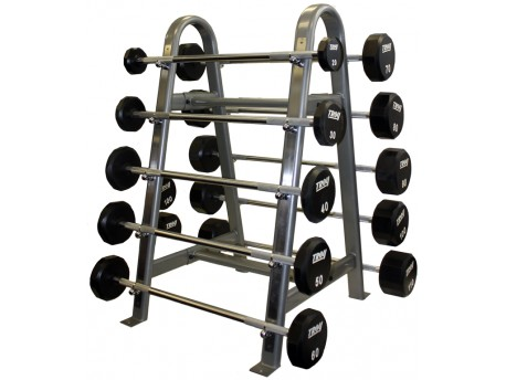 Troy Urethane Fixed Barbell Set 20-110lb with Rack