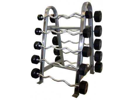 Troy Rubber Fixed Barbell Set 20-110lb with Rack