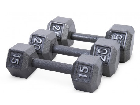 CAP 5-50lb Hex Dumbbell Set with Rack