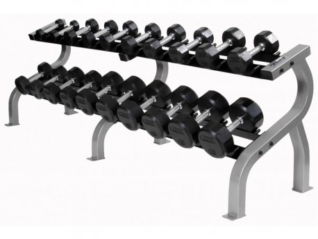 Troy Premium Rubber Dumbbell Set 5-50lb with Rack