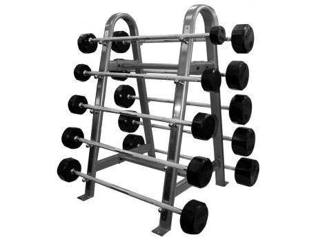 Troy Premium Rubber Fixed Barbell Set 20-110lb with Rack