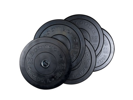Body Solid Chicago Bumper Plate LB Black
