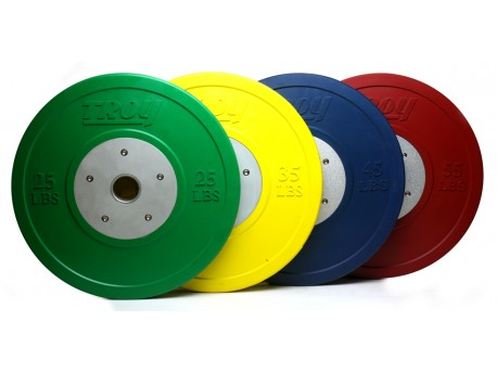Troy Competition Bumper Plate LB Colored
