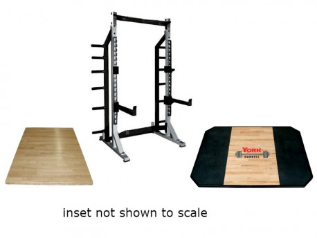 York Olympic Lifting Platform with STS Half Rack