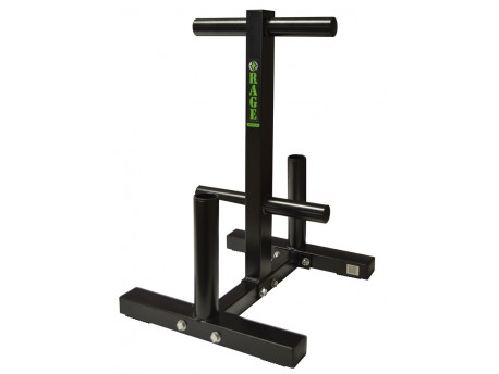 Rage Bumper Plate Tree and Bar Stand