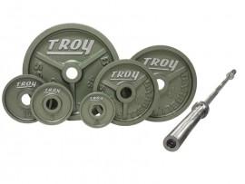 Troy 300 lb Olympic Premium Weight Set w/ 7 ft Bar