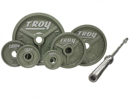 Troy 300 lb Olympic Premium Weight Set w/ 7 ft Bar