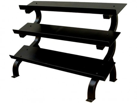 Troy VTX 5-75lb 3-Tier Flat Tray Horizontal Dumbbell Rack