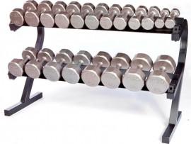 Troy VTX 5-50lb Ergonomic Dumbbell Set with Rack