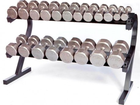 Troy VTX 5-50lb Ergonomic Dumbbell Set with Rack