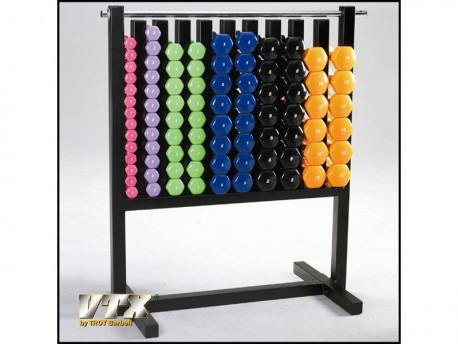 Lockable Aerobic Dumbbell Rack - Holds 43 Pairs