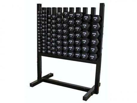 Aerobic Pac - 43 Pairs of Neoprene Dumbbells with Lockable Rack